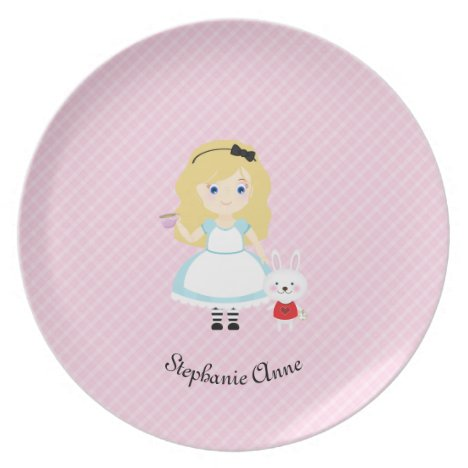 Alice and Her Tea Party Dinner Plate