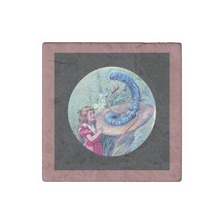 Alice and Hookah Smoking Caterpillar Stone Magnet
