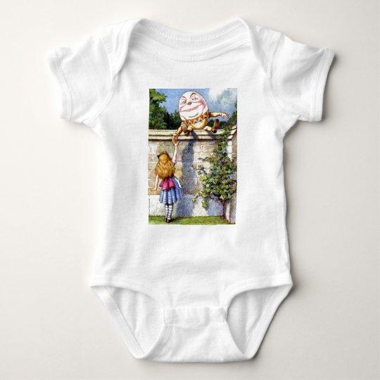 Alice and Humpty Dumpty in Wonderland Baby Bodysuit
