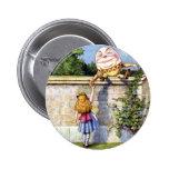 Alice and Humpty Dumpty in Wonderland 2 Inch Round Button