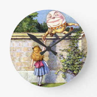 Alice and Humpty Dumpty in Wonderland Wall Clocks