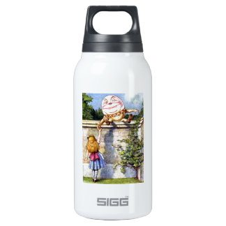 Alice and Humpty Dumpty in Wonderland Insulated Water Bottle