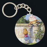 "Alice and Humpty Dumpty in Wonderland Keychain<br><div class=""desc"">Alice and Humpty Dumpty in Wonderland From Alice Through The Looking Glass</div>"