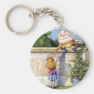 Alice and Humpty Dumpty in Wonderland Keychain