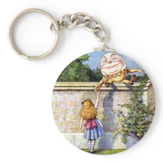 Alice and Humpty Dumpty in Wonderland Keychain