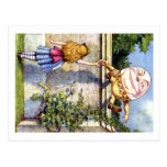 Alice and Humpty Dumpty in Wonderland Postcard