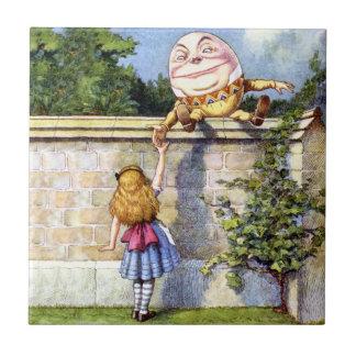 Alice and Humpty Dumpty in Wonderland Tile