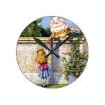 Alice and Humpty Dumpty in Wonderland Wall Clocks