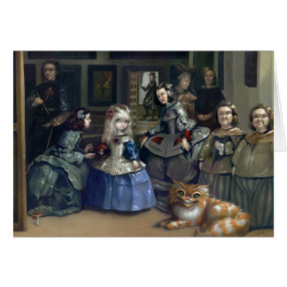 """Alice and Las Meninas"" Greeting Card"