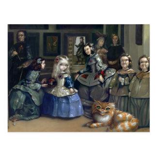 """""""Alice and Las Meninas"""" Postcard"""