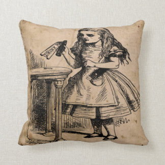 Alice and Mad Hatter Pillow