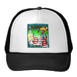 Alice and Obama Chess Trucker Hat