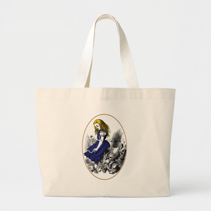 Alice and the Animals Large Tote Bag