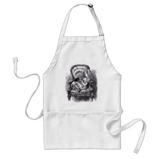 Alice and the Black Kitten Aprons