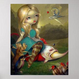 Alice and the Bosch Birds ART PRINT Wonderland