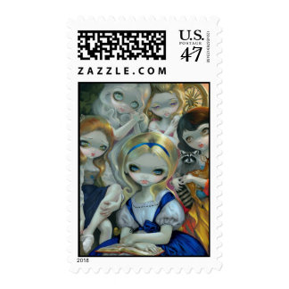 """""""Alice and the Bouguereau Princesses"""" Stamp"""