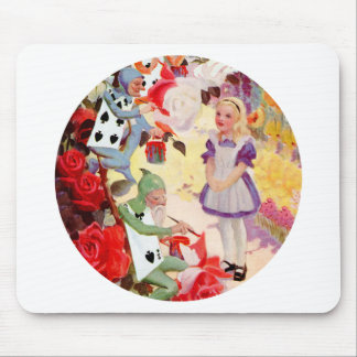 Alice and the Cardmen Painting the Queen's Roses Mouse Pads