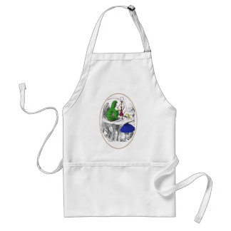 Alice and the Caterpillar Adult Apron