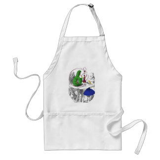 Alice and the Caterpillar Aprons