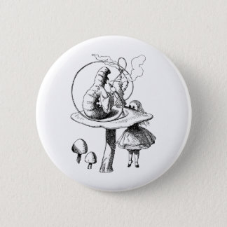 Alice and the Caterpillar Button