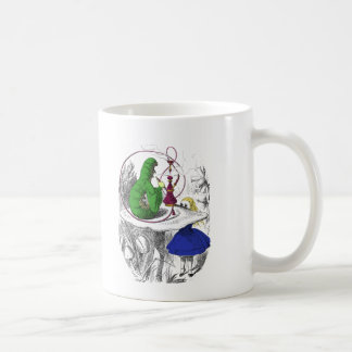 Alice and the Caterpillar Classic White Coffee Mug