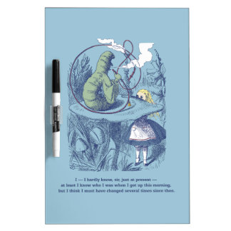 Alice and the Caterpillar Dry Erase Board