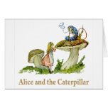 Alice and the Caterpillar Greeting Card