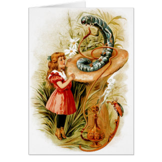 Alice and the Caterpillar Greeting Cards