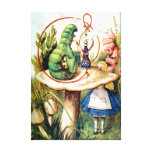 Alice and the Caterpillar in Wonderland Stretched Canvas Prints