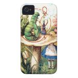 Alice and the Caterpillar in Wonderland iPhone 4 Case-Mate Case