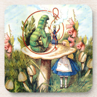 Alice and the Caterpillar in Wonderland Drink Coaster