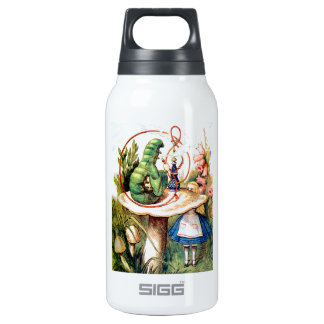 Alice and the Caterpillar in Wonderland Insulated Water Bottle