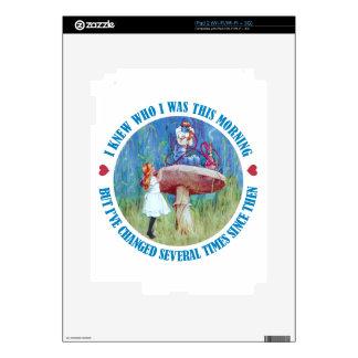 Alice and the Caterpillar in Wonderland iPad 2 Skin