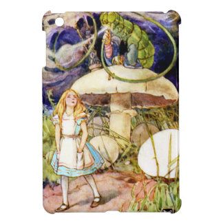 Alice and the Caterpillar in Wonderland iPad Mini Covers