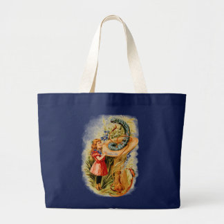 Alice and the Caterpillar Jumbo Tote Tote Bags