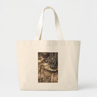 Alice and the Caterpillar Large Tote Bag