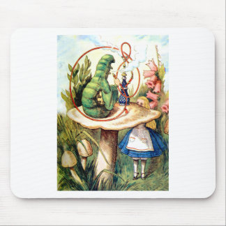 ALICE AND THE CATERPILLAR MOUSE PAD