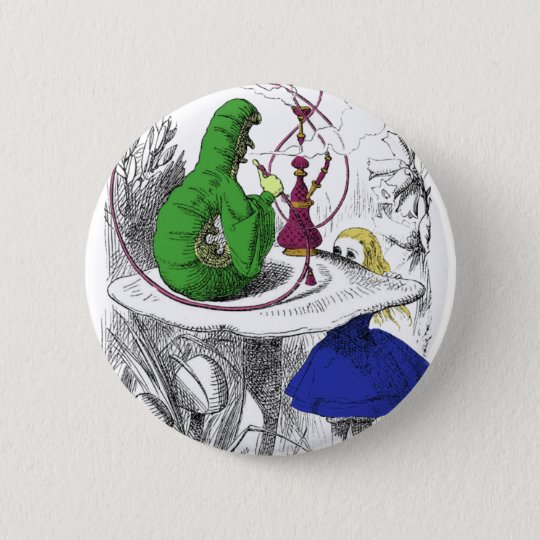 Alice and the Caterpillar Pinback Button