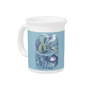 Alice and the Caterpillar Porcelian Pitcher