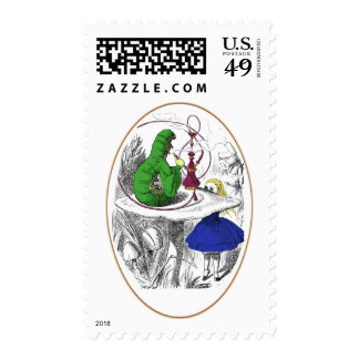 Alice and the Caterpillar Postage Stamps