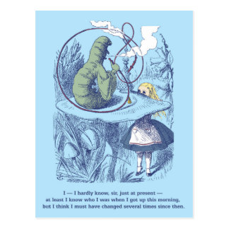 Alice and the Caterpillar Postcard