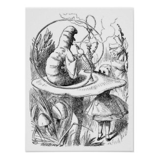 Alice and the Caterpillar Print