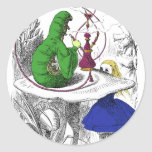 Alice and the Caterpillar Round Sticker
