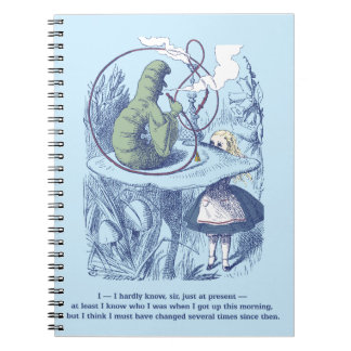 Alice and the Caterpillar Spiral Notebook