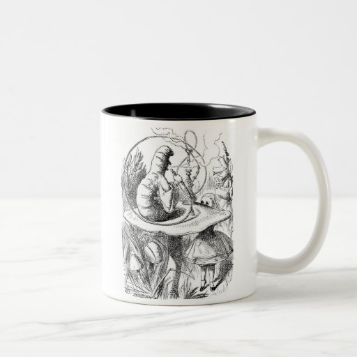 Alice and the Caterpillar Two-Tone Coffee Mug