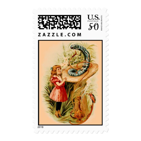 Alice and the Caterpillar U.S. Postage Stamps