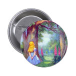 Alice and the Cheshire Cat 2 Inch Round Button