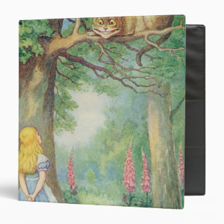 Alice and the Cheshire Cat 3 Ring Binder