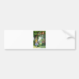ALICE AND THE CHESHIRE CAT BUMPER STICKER