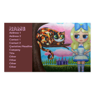 Alice and the Cheshire Cat Double-Sided Standard Business Cards (Pack Of 100)